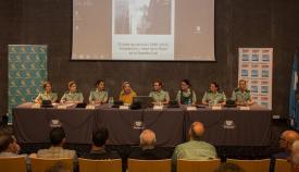 Imagen de la conferencia, que tuvo lugar en La Línea