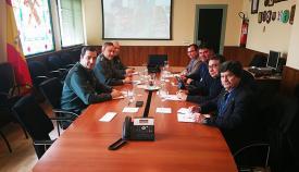 Imagen de la reunión entre Guardia Civil y FEMCA