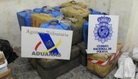 Imagen de la droga incautada por Policía y Agencia Tributaria