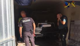 Imagen de uno de los vehículos intervenidos
