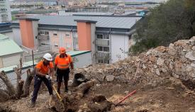 El equipo trabajando en la zona. Foto IngoGibraltar