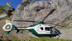 Un helicóptero de la Guardia Civil. Foto: NG