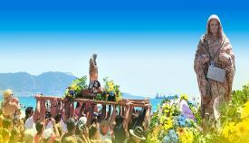 Imagen de archivo de la Virgen de la Palma en procesión