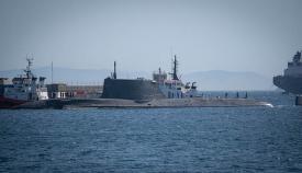 El HMS Artful en el puerto de Gibraltar. Foto Sergio Rodríguez