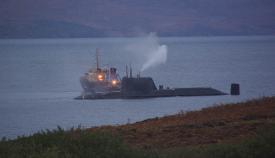 El HMS Astute cuando encalló en la isla de Skye en 2010