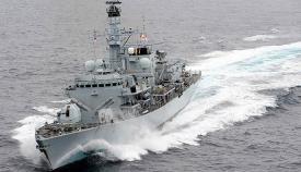 La fragata HMS Montrose