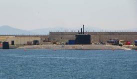 El HMS Talent, en una de sus anteriores estancias en Gibraltar. Foto NG