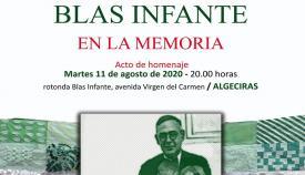El Foro por la Memoria organiza un homenaje a Blas Infante en Algeciras