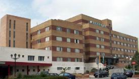 Hospital de La Línea y zona de urgencias a la izquierda