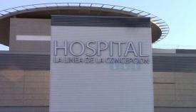 Imagen del exterior del hospital de La Línea