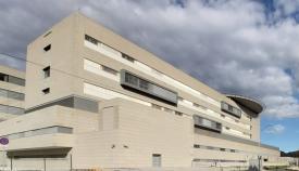 Imagen trasera del Hospital Comarcal de La Línea de la Concepción