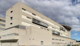 Una imagen de la parte trasera del Hospital Comarcal de La Línea