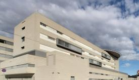 Una imagen de la parte trasera del Hospital Comarcal de La Línea. Foto: NG