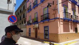Pensión de Algeciras donde se han detectado positivos por coronavirus