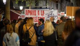 Una manifestación reciente del sector de la hostelería. Foto: Sergio Rodríguez