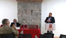 Ignacio Molina, durante su intervención en la Universidad de Gibraltar. Foto LR