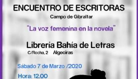 Este sábado, encuentro de escritoras de novela del Campo de Gibraltar