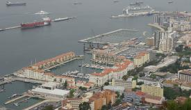 Imagen aérea del puerto de Gibraltar