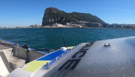 La sección marítima actuó al sur de Europa Point. Foto RGP