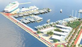 Imagen virtual del puerto de megayates