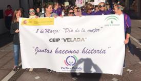 La marcha, a su paso por la Calle Real. Foto: Sergio Rodríguez