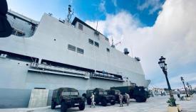 El BAA 'Galicia' atracado en el puerto de Ceuta. Foto ORP / CG Flota
