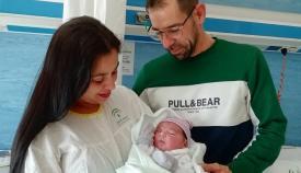 Dylan, primer bebé nacido en 2021 en el Campo de Gibraltar