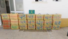 Un vecino de Algeciras, detenido con 630 kilos de hachís en un vehículo robado