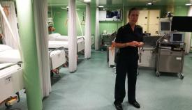 Vista del hospital embarcado del BAA 'Galicia'. Foto LR