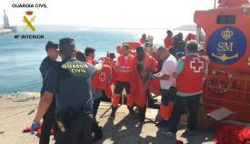 Imagen de archivo de llegada de inmigrantes al puerto de Tarifa