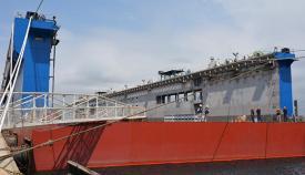 Imagen del nuevo dique flotante de Cernaval