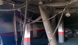 Imagen del garaje incendiado en Alcaidesa. Foto: Bomberos