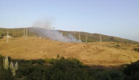Una imagen del incendio forestal declarado este viernes. Foto: NG