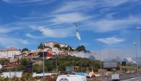 Uno de los incendios en San Roque se ha producido al lado de la autovía