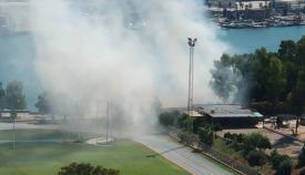Incendio de pastos en Algeciras