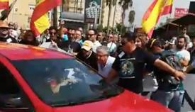 Imagen del vídeo del incidente ante la verja de Gibraltar