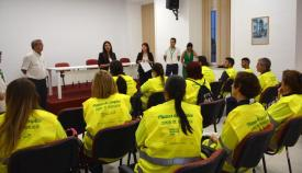 Los nuevos trabajadores del plan de empleo de la Junta de Andalucía