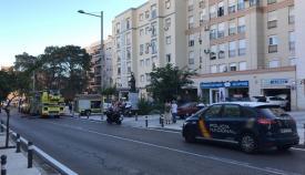 Cuatro atendidos por inhalación de humo tras un incendio en Algeciras