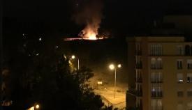 Extinguido un incendio de pastos en La Bajadilla