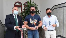 El fisioculturista Miguel Pozuelo, recibido en el Ayuntamiento de Algeciras