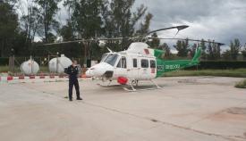 Un helicóptero del Infoca