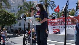 Inmaculada Ortega, secretaria provincial de CCOO. Foto. NG