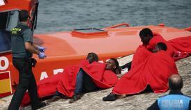 Llegada de inmigrantes a las costas del Campo de Gibraltar