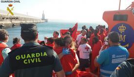 Casi medio millar de inmigrantes llegaron a Tarifa el viernes