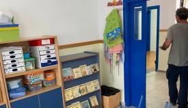 El interior de uno de los colegios de La Línea