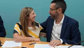 Irene García y Juan Franco, en una imagen de archivo