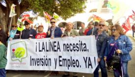 IU La Línea durante la manifestación del pasado 1 de mayo