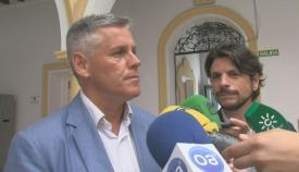 Javier Cano y Sergio Pelayo, durante una comparecencia reciente en Algeciras