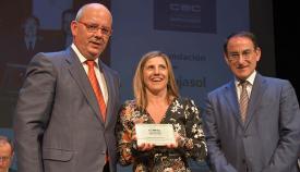 Los presidentes de la CEC y CEA junto a la presidenta de la Diputación de Cádiz