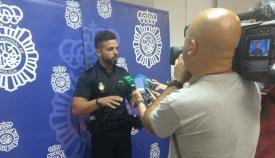 José Luis Estrada, esta mañana ante los medios de comunicación